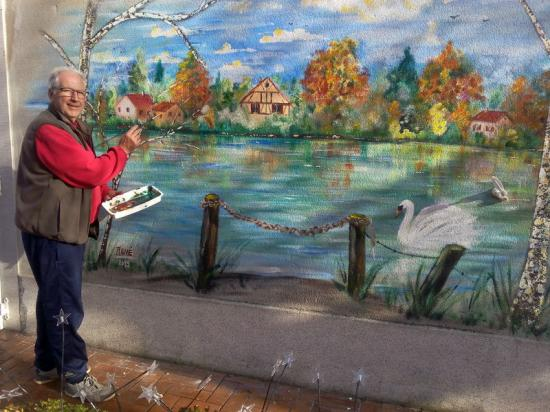 Realisation fresque murale extérieure