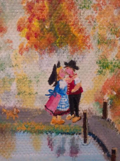 fresque fenêtre d'automne (détail )
