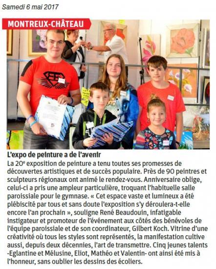 Montreux-Château - L'expo de peinture a de l'avenir- 2017